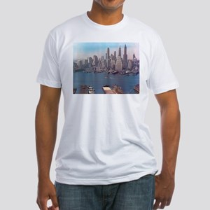 New York City Skyline 1948 Fitted T-Shirt