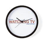 Stop Watching TV Wall Clock