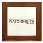 Stop Watching TV Framed Tile