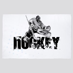 Hockey Player 4' x 6' Rug