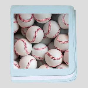 Baseball Balls baby blanket