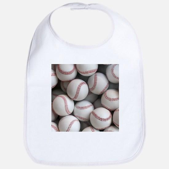 Baseball Balls Baby Bib