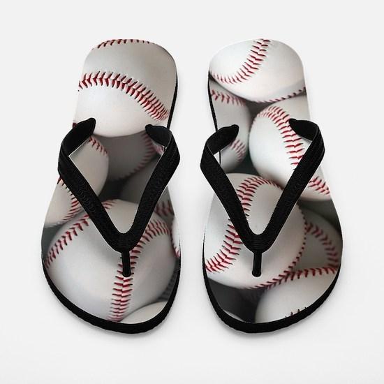 Baseball Balls Flip Flops