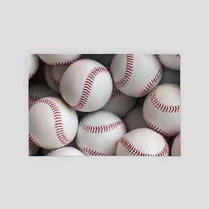 Baseball Balls 4' x 6' Rug