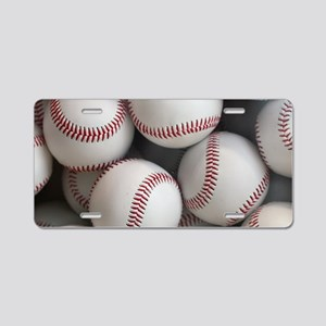 Baseball Balls Aluminum License Plate