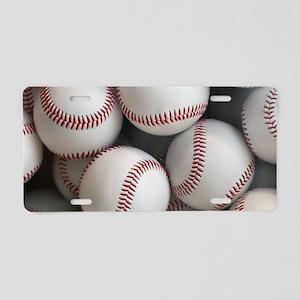 Baseball Balls Aluminum License Plate
