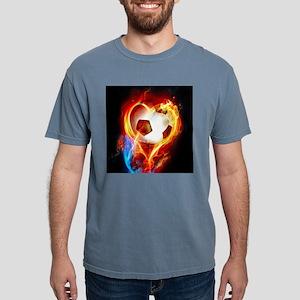 Flaming Football Ball T-Shirt