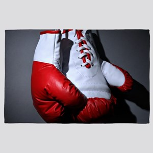 Boxing Gloves 4' x 6' Rug
