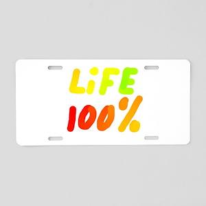 LiFE 100% Aluminum License Plate