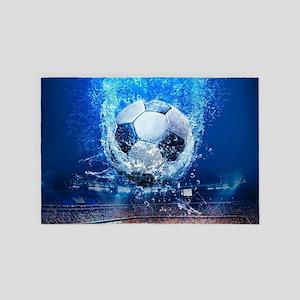 Ball Splash Over Stadium 4' x 6' Rug