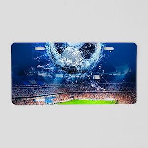 Ball Splash Over Stadium Aluminum License Plate