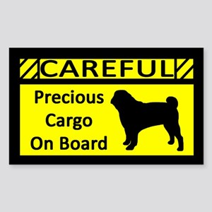 Precious Cargo Pug Sticker (Rect)