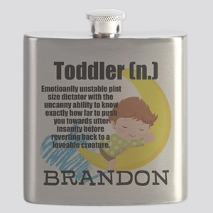 TODDLER HUMOR PERSONALIZE Flask