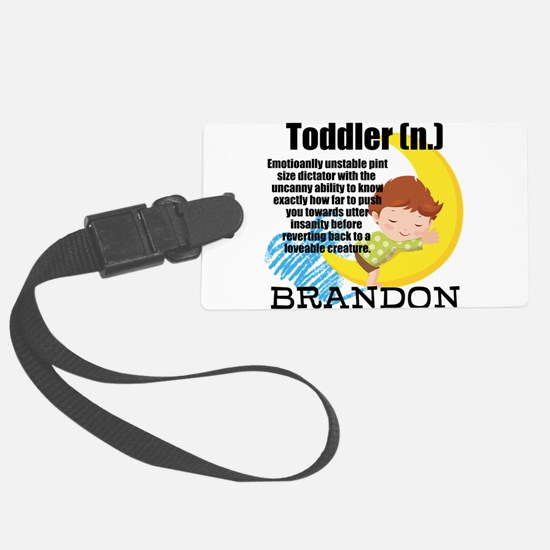 TODDLER HUMOR PERSONALIZE Luggage Tag