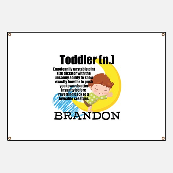 TODDLER HUMOR PERSONALIZE Banner