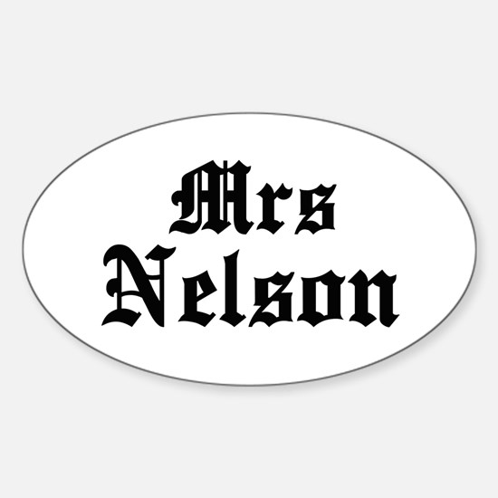 Mrs Nelson Oval Decal