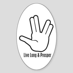 Live Long & Prosper - 2 Oval Sticker