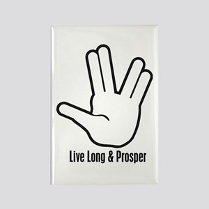 Live Long & Prosper - 2 Rectangle Magnet