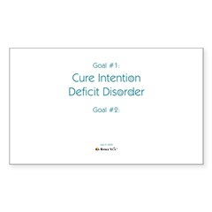 Intention Deficit Disorder Rectangle Decal