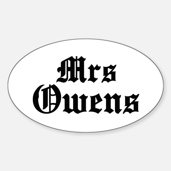 Mrs Owens Oval Decal
