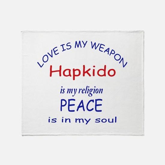 Hapkido is my Religion Throw Blanket