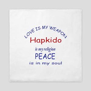 Hapkido is my Religion Queen Duvet