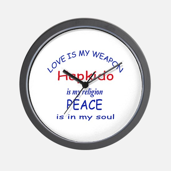 Hapkido is my Religion Wall Clock