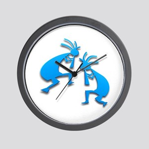 Two Kokopelli #76 Wall Clock
