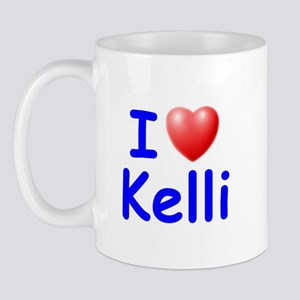 I Love Kelli (Blue) Mug