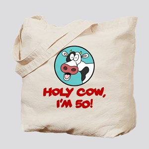 Holy Cow Im 50 Drinkware Tote Bag