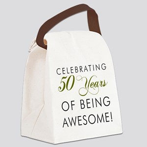 Celebrating 50 Years Pint Glass Canvas Lunch Bag
