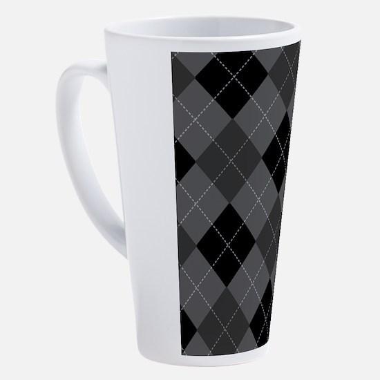 Cute Argyle 17 oz Latte Mug