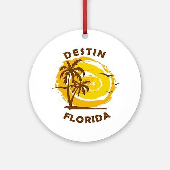 Summer destin- florida Round Ornament