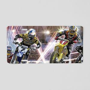 Motocross Arena Aluminum License Plate