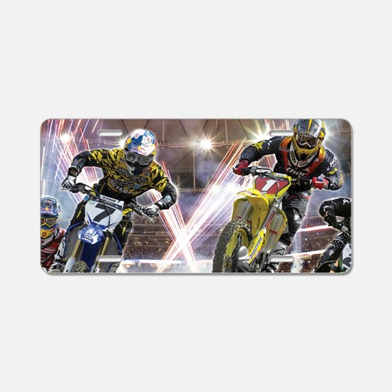 Motocross Arena Aluminum License Plate