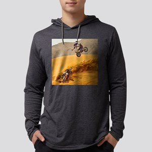 Motocross Riders Riding Sand D Long Sleeve T-Shirt