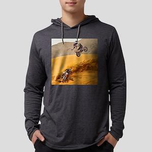 Motocross Riders Riding Sand D Long Sleeve T-Shirt
