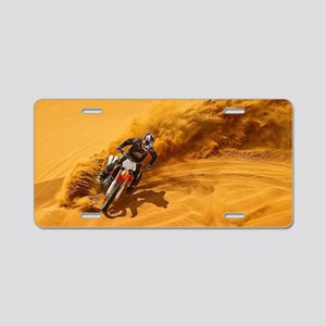 Motocross Riders Riding San Aluminum License Plate