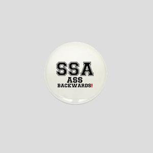 SSA - ASS BACKWARDS! Mini Button