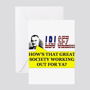 LBJ Sez Greeting Card