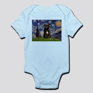 Starry-Am.Staffordshire (blk) Infant Bodysuit