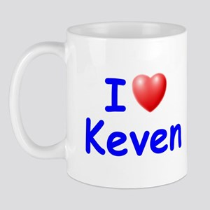 I Love Keven (Blue) Mug