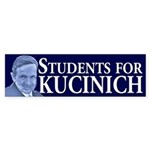 Students for Kucinich bumper sticker