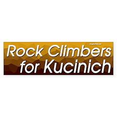 Rock Climbers for Kucinich bumper sticker