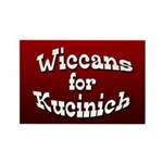 Wiccans for Kucinich Rectangle Magnet