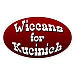 Wiccans for Kucinich Oval Bumper Sticker