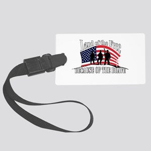 Land Of The Free Large Luggage Tag