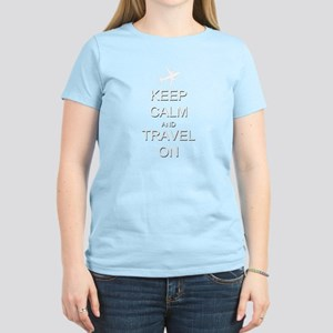 Keep Calm and Travel On Airpl Women's Dark T-Shirt