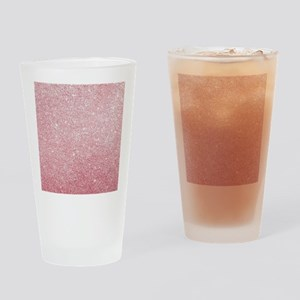 Rose-gold faux glitter Drinking Glass