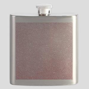 Rose-gold faux glitter Flask